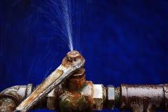 Válvula velha da água Imagem de Stock