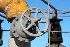 Válvula velha do sistema de aquecimento Fotografia de Stock