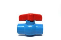 Válvula vieja del agua del PVC Imágenes de archivo libres de regalías