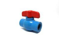 Válvula vieja del agua del PVC Imagen de archivo