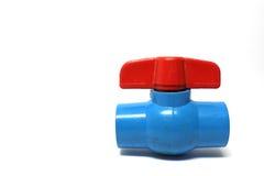 Válvula vieja del agua del PVC Imagen de archivo libre de regalías