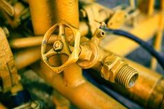 Válvula y tubería Foto de archivo