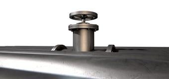 Válvula y tubos de cierre del metal Foto de archivo libre de regalías