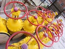 Válvulas amarillas 2 Foto de archivo