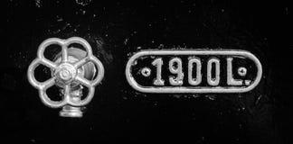 Válvulas con número Imagen de archivo libre de regalías