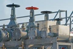 Válvulas de gas Fotografía de archivo libre de regalías