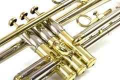 Válvulas de la trompeta Foto de archivo libre de regalías