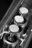 Válvulas de la trompeta Fotografía de archivo libre de regalías