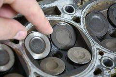 Válvulas de motor Foto de Stock Royalty Free