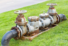 Válvulas de porta da água Fotos de Stock