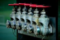 Válvulas de regulamento da pressão Fotografia de Stock
