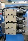 Válvulas de solenóide hidráulicas Foto de Stock Royalty Free