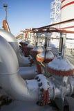 Válvulas del aceite en invierno fotografía de archivo libre de regalías