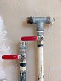 Válvulas del agua Foto de archivo