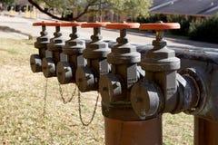 Válvulas del agua Fotos de archivo libres de regalías