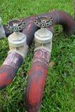 Válvulas, válvulas del cromo, válvulas del agua, Imagenes de archivo
