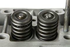 Válvulas del mantenimiento del motor Foto de archivo