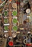 Válvulas dentro de um submarino Imagens de Stock Royalty Free