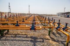 Válvulas do petróleo e gás Fotografia de Stock