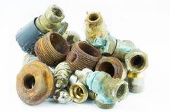 Válvulas e linhas oxidadas fotos de stock royalty free