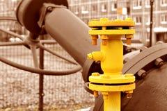 Válvulas e válvula da tubulação Fotos de Stock