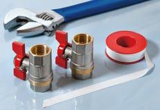 Válvulas para la agua caliente Imagen de archivo libre de regalías