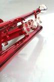 Válvulas vermelhas da trombeta Foto de Stock