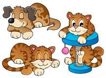 Vária coleção 1 dos animais de estimação Imagens de Stock Royalty Free