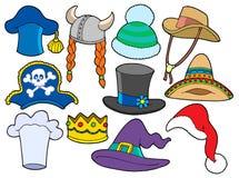 Vária coleção dos chapéus Fotos de Stock