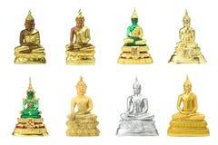 Vária estátua de buddha isolada no branco Imagens de Stock Royalty Free