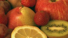 Vária fruta fresca vídeos de arquivo