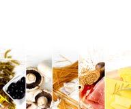 Vária mistura do alimento Fotos de Stock Royalty Free
