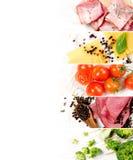Vária mistura do alimento Fotografia de Stock Royalty Free
