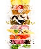 Vária mistura do alimento Fotografia de Stock