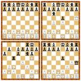 Grupo da posição da xadrez Imagens de Stock Royalty Free