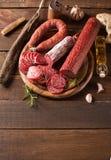 Vária salsicha Imagem de Stock