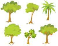 Várias árvores e plantas ilustração stock
