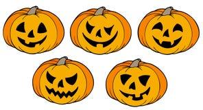Várias abóboras de Halloween Foto de Stock