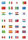 Várias bandeiras Fotos de Stock