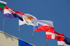 Várias bandeiras nacionais Foto de Stock Royalty Free