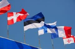 Várias bandeiras nacionais Imagens de Stock