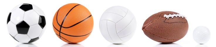 Várias bolas - panorama do esporte foto de stock royalty free