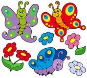 Várias borboletas bonitos ilustração royalty free