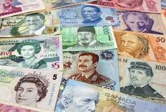 Várias caras do dinheiro Fotografia de Stock