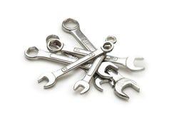 Várias chaves inglesas isoladas Imagens de Stock Royalty Free