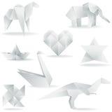 Várias criações de Origami Fotos de Stock
