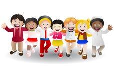 Várias crianças da cultura ilustração royalty free