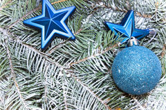 Várias decorações pelo Natal e o ano novo Imagem de Stock