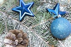 Várias decorações pelo Natal e o ano novo Fotos de Stock