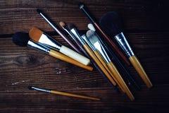 Várias escovas da composição Fotos de Stock Royalty Free